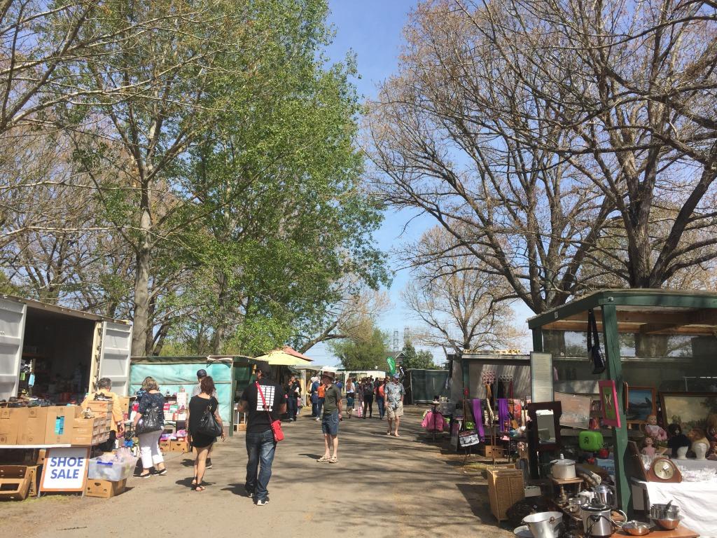 Series of shops at Riccarton Sunday Market