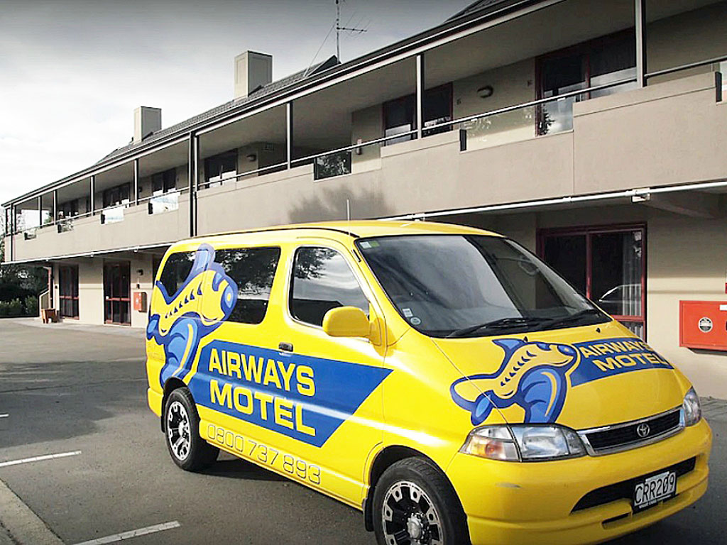 Airways Motel Shuttle to and from Christchurch International Airport
