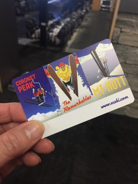 スキー場でもらうカード