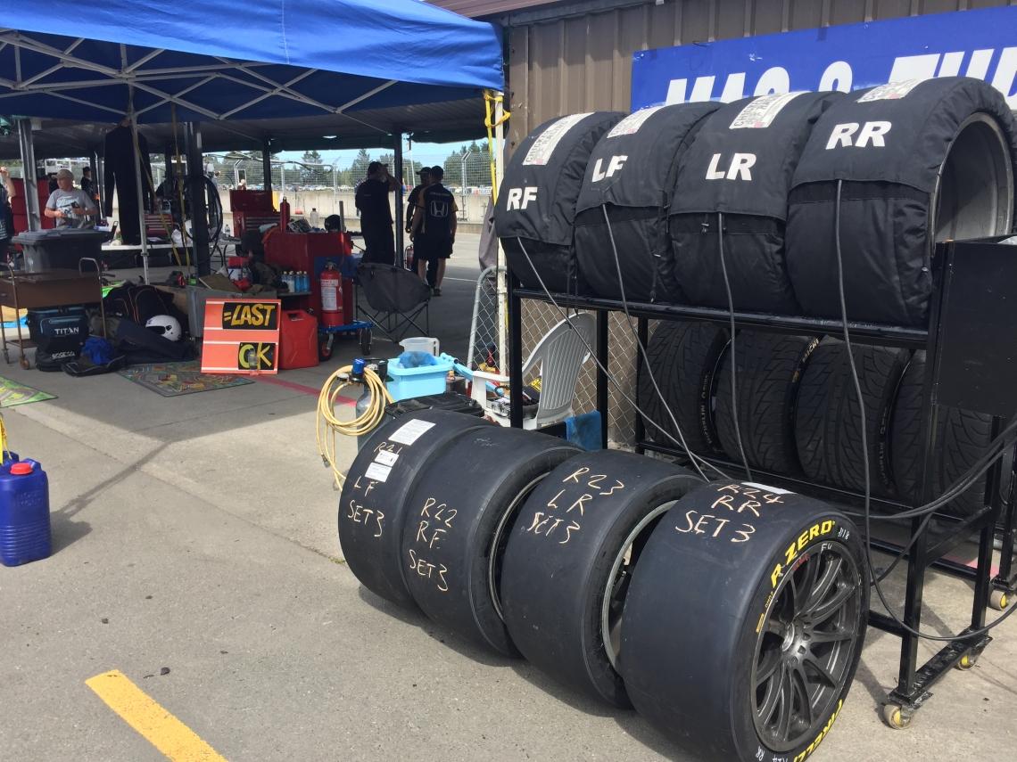 Tyres of Racing cars at Ruapuna Raceway